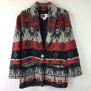 Vintage Southwestern Aztec Wool Jacket Large